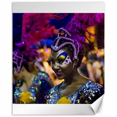 Costumed Attractive Dancer Woman at Carnival Parade of Uruguay Canvas 16  x 20