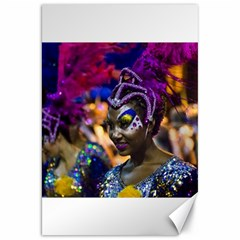 Costumed Attractive Dancer Woman at Carnival Parade of Uruguay Canvas 20  x 30