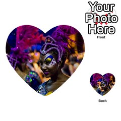 Costumed Attractive Dancer Woman At Carnival Parade Of Uruguay Multi Purpose Cards (heart)