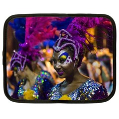 Costumed Attractive Dancer Woman At Carnival Parade Of Uruguay Netbook Case (large)