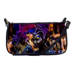 Costumed Attractive Dancer Woman At Carnival Parade Of Uruguay Shoulder Clutch Bags