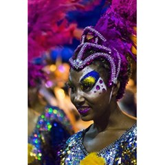 Costumed Attractive Dancer Woman at Carnival Parade of Uruguay 5.5  x 8.5  Notebooks
