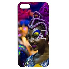 Costumed Attractive Dancer Woman at Carnival Parade of Uruguay Apple iPhone 5 Hardshell Case with Stand