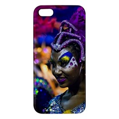 Costumed Attractive Dancer Woman at Carnival Parade of Uruguay Apple iPhone 5 Premium Hardshell Case