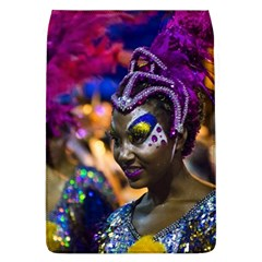 Costumed Attractive Dancer Woman at Carnival Parade of Uruguay Flap Covers (L)