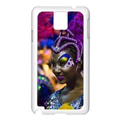 Costumed Attractive Dancer Woman at Carnival Parade of Uruguay Samsung Galaxy Note 3 N9005 Case (White)