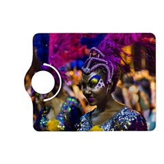 Costumed Attractive Dancer Woman at Carnival Parade of Uruguay Kindle Fire HD (2013) Flip 360 Case