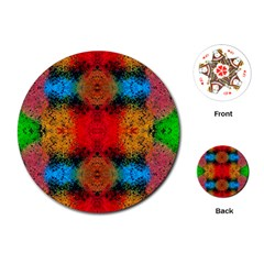 Colorful Goa   Painting Playing Cards (Round)