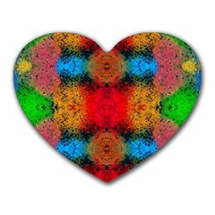 Colorful Goa   Painting Heart Mousepads