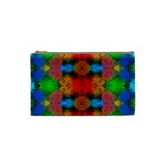 Colorful Goa   Painting Cosmetic Bag (Small)