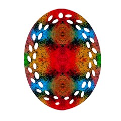 Colorful Goa   Painting Oval Filigree Ornament (2-Side)