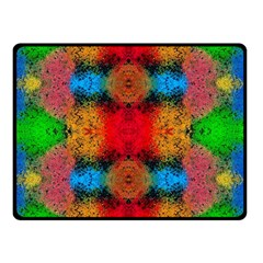 Colorful Goa   Painting Double Sided Fleece Blanket (Small)