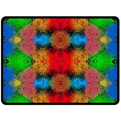 Colorful Goa   Painting Double Sided Fleece Blanket (large)