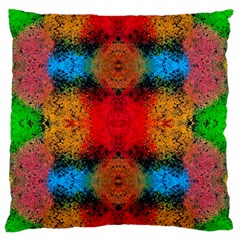 Colorful Goa   Painting Large Flano Cushion Cases (One Side)