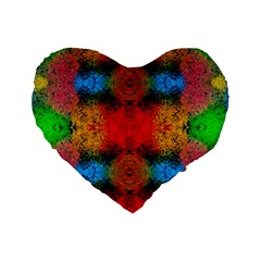 Colorful Goa   Painting Standard 16  Premium Flano Heart Shape Cushions