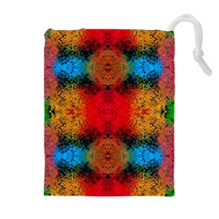Colorful Goa   Painting Drawstring Pouches (extra Large)