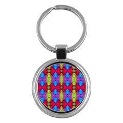 Colorful Painting Goa Pattern Key Chains (Round)