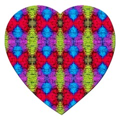 Colorful Painting Goa Pattern Jigsaw Puzzle (Heart)