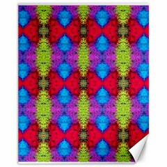 Colorful Painting Goa Pattern Canvas 11  x 14