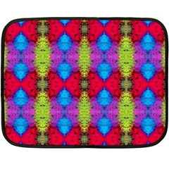 Colorful Painting Goa Pattern Fleece Blanket (Mini)