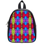 Colorful Painting Goa Pattern School Bags (Small)  Front