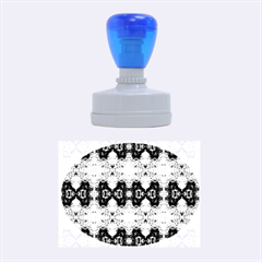 Colorful Painting Goa Pattern Rubber Oval Stamps