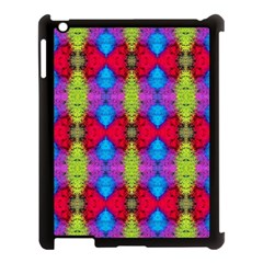Colorful Painting Goa Pattern Apple iPad 3/4 Case (Black)