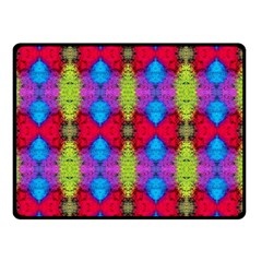 Colorful Painting Goa Pattern Double Sided Fleece Blanket (Small)