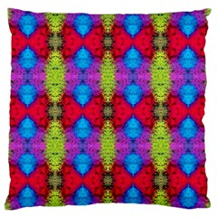 Colorful Painting Goa Pattern Large Flano Cushion Cases (Two Sides)