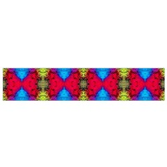 Colorful Painting Goa Pattern Flano Scarf (Small)