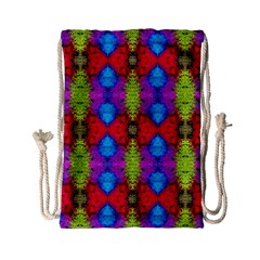 Colorful Painting Goa Pattern Drawstring Bag (Small)