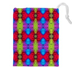 Colorful Painting Goa Pattern Drawstring Pouches (xxl)