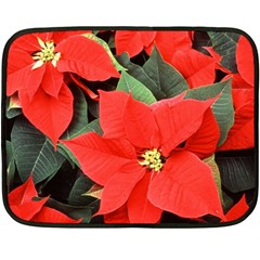 POINSETTIA Double Sided Fleece Blanket (Mini)