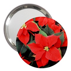 POINSETTIA 3  Handbag Mirrors