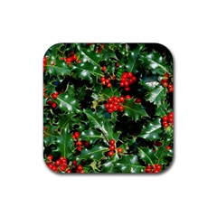HOLLY 2 Rubber Square Coaster (4 pack)