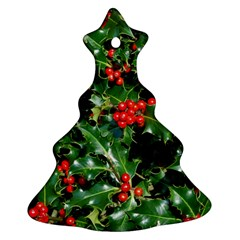 HOLLY 2 Christmas Tree Ornament (2 Sides)