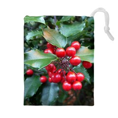 HOLLY 1 Drawstring Pouches (Extra Large)