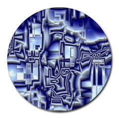 Reflective Illusion 01 Round Mousepads