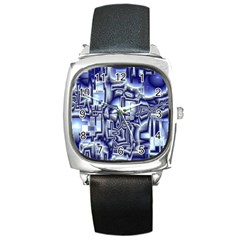 Reflective Illusion 01 Square Metal Watches