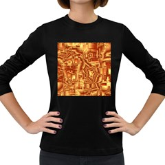 Reflective Illusion 02 Women s Long Sleeve Dark T-Shirts