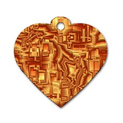 Reflective Illusion 02 Dog Tag Heart (Two Sides)