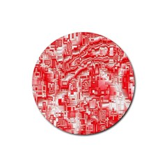 Reflective Illusion 03 Rubber Round Coaster (4 pack)