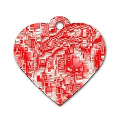 Reflective Illusion 03 Dog Tag Heart (Two Sides)