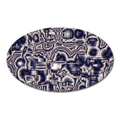 Reflective Illusion 04 Oval Magnet