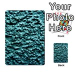 Green Metallic Background, Multi-purpose Cards (Rectangle)  Back 16