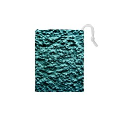 Green Metallic Background, Drawstring Pouches (XS)