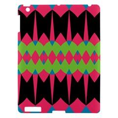 Rhombus and other shapes patternApple iPad 3/4 Hardshell Case