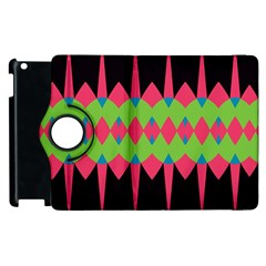 Rhombus and other shapes pattern			Apple iPad 3/4 Flip 360 Case