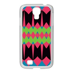 Rhombus and other shapes patternSamsung GALAXY S4 I9500/ I9505 Case (White)