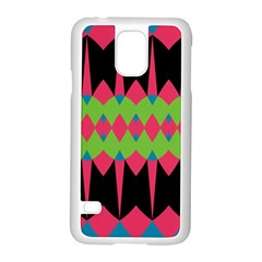 Rhombus and other shapes patternSamsung Galaxy S5 Case (White)